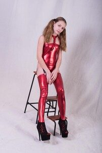 Brima Models – Monica In Red Shiny